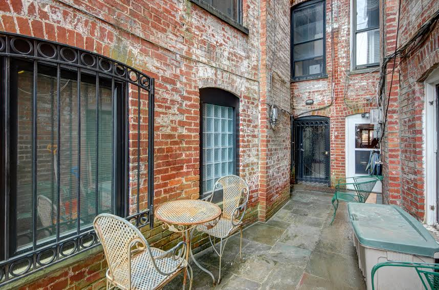 brick patio | 2 bedroom apartment available in Adams Morgan | Northwest DC