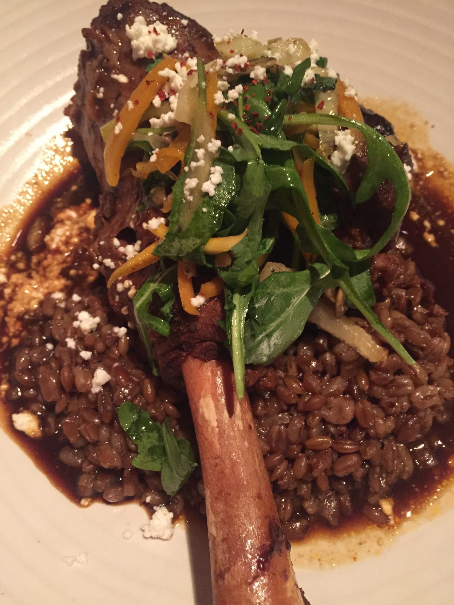 The Gage | Lamb dinner | Fine dining in Chicago