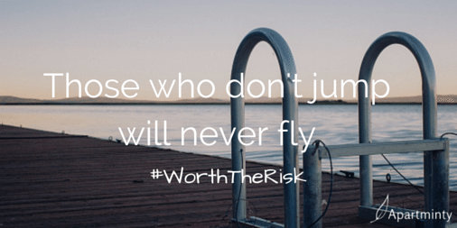 Those who don't jump, never fly motivational quote #WorthTheRisk
