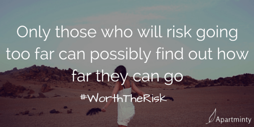 Only those who risk going to far can find out how far they can go Life isn't what you are given. It's what you create, what you conquer and what yo aim to achieve motivational quote #WorthTheRisk