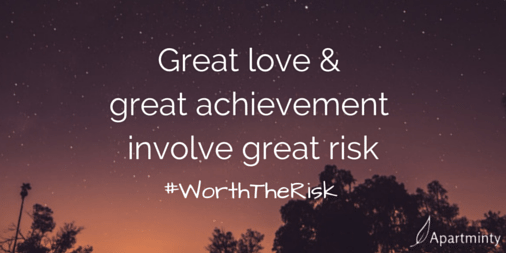 Great love & great achievement involve great risk motivational quote #WorthTheRisk