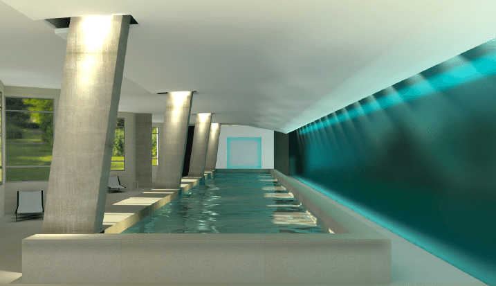 DC's Finest | Rendering of the indoor pool at Park Chelsea Apartments | Apartment Hunting | Capitol Riverfront, Southeast DC