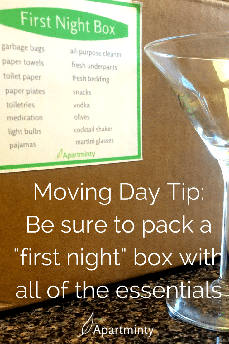 "Moving Into Your First Apartment | What you want to pack in your ""first night"" box of essentials"