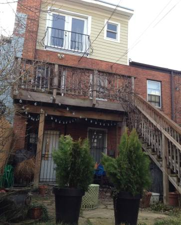 Two Level Two Bedroom Apartment in Eastern Market | Exterior of apartment with entry way