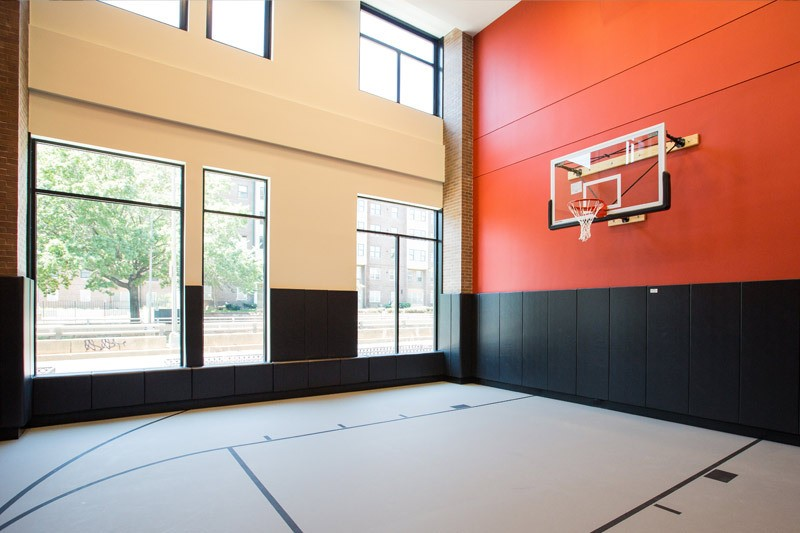 2M Street Luxury Pet Friendly Apartments in NoMa | Indoor basketball court