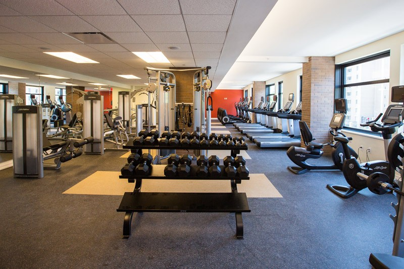 2M Street Luxury Pet Friendly Apartments in NoMa | Fitness Center Equipment
