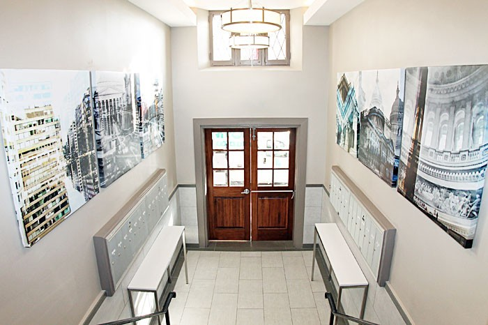 Upgraded Glover Park 2 Bedroom Apartment | Handsome apartment building lobby