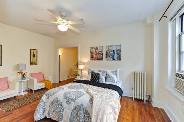 Sophisticated Studio in Kalorama | Living and Sleeping Area | Apartment for Rent in Washington DC