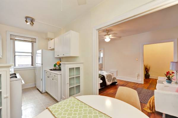 Sophisticated Studio in Kalorama | Kitchen and Dining Area | Kitchen and Dining Area | Apartment for Rent in Washington DC