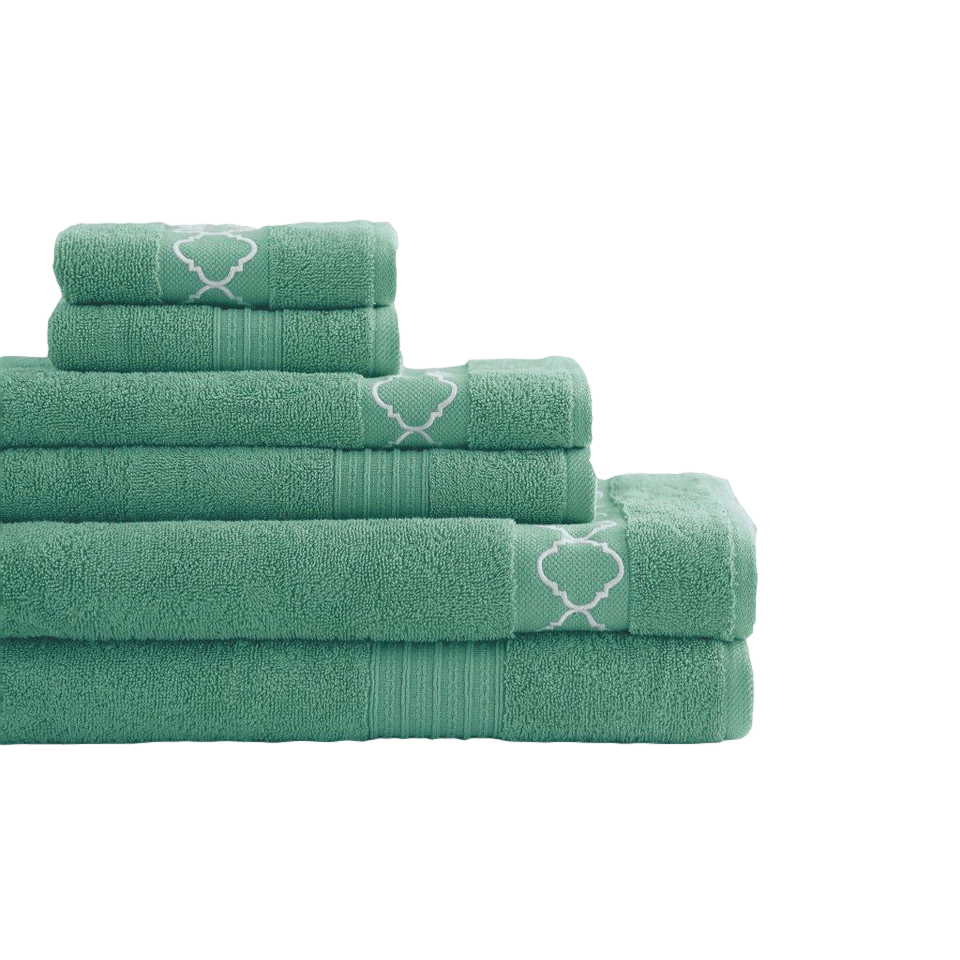 Best Places To Shop For Your First Apartment | Embroidered Jewel Tone 6 Piece Towel Set from Wayfair