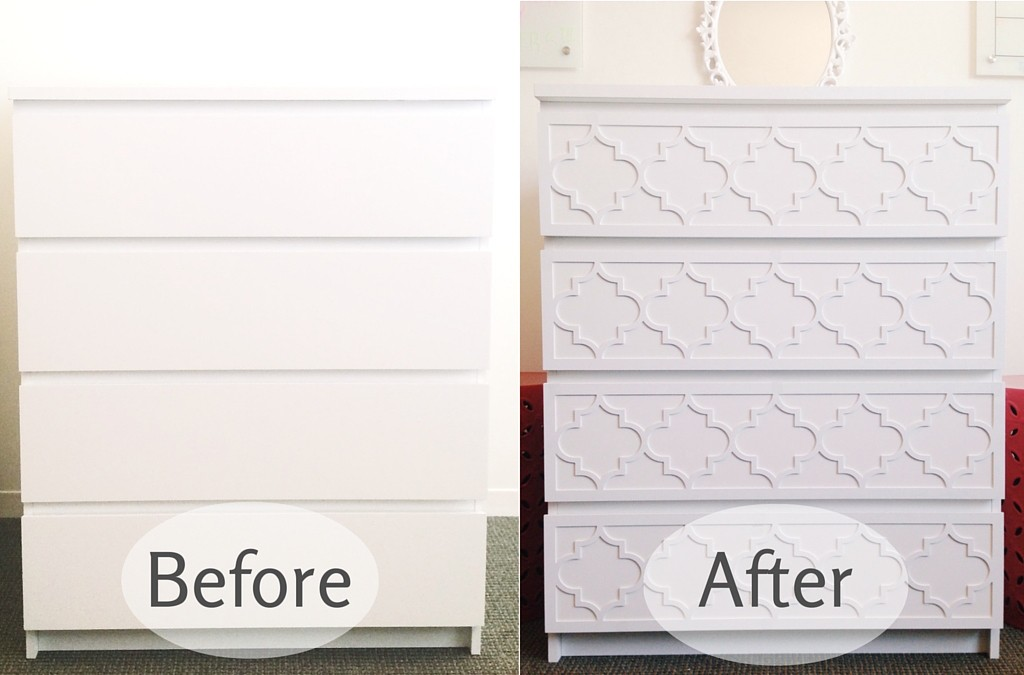 O'verlays Before and After DIY Ikea Dresser Hack