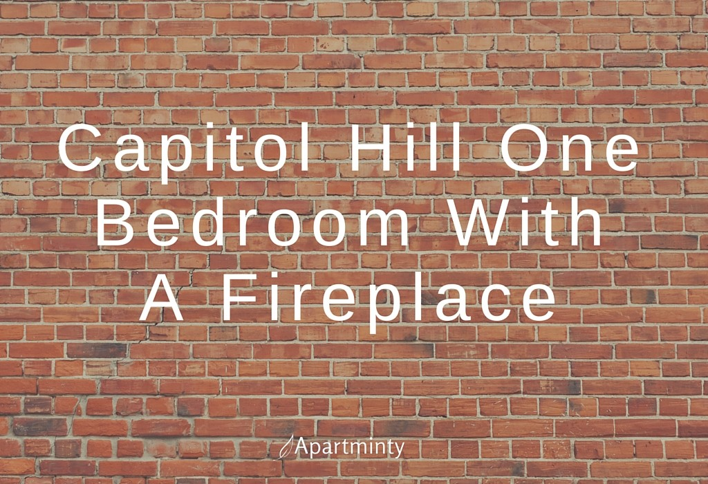Capitol Hill One Bedroom With A Fireplace