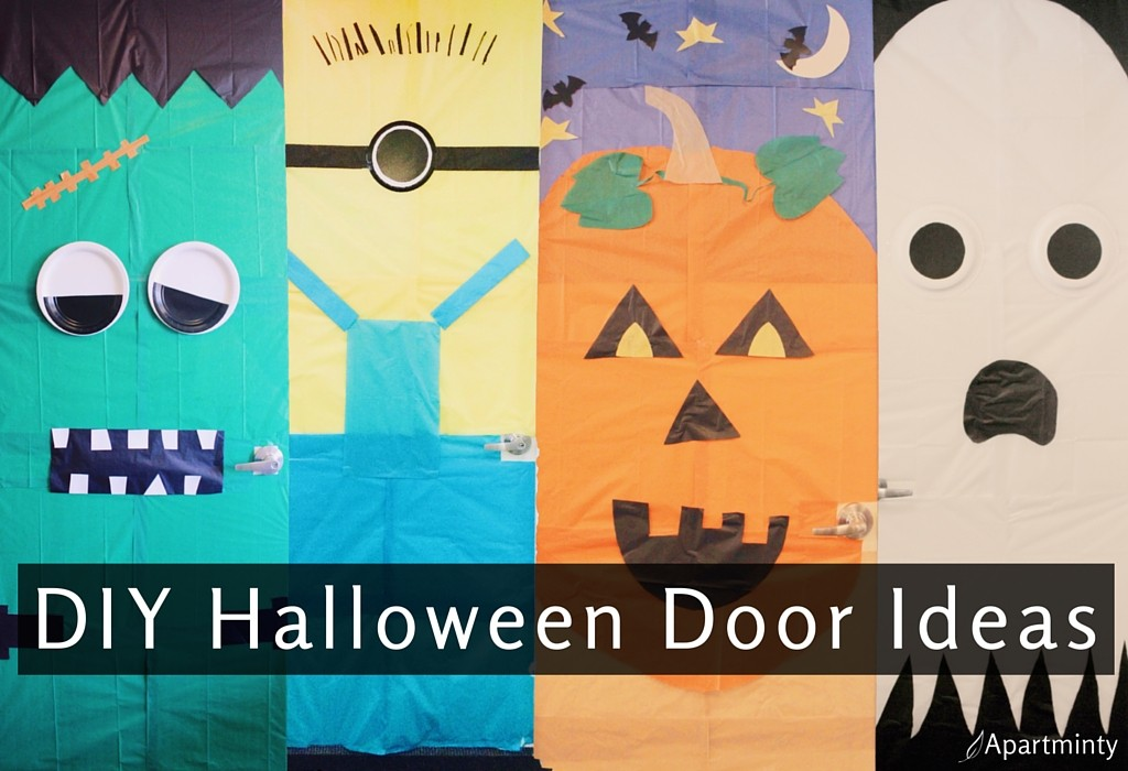 Easy DIY Halloween Decor: Monster Doors