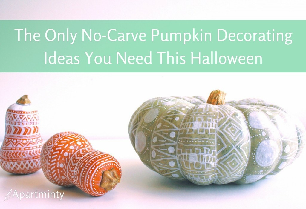 The Only No-Carve Pumpkin Decorating Ideas You Need This Halloween