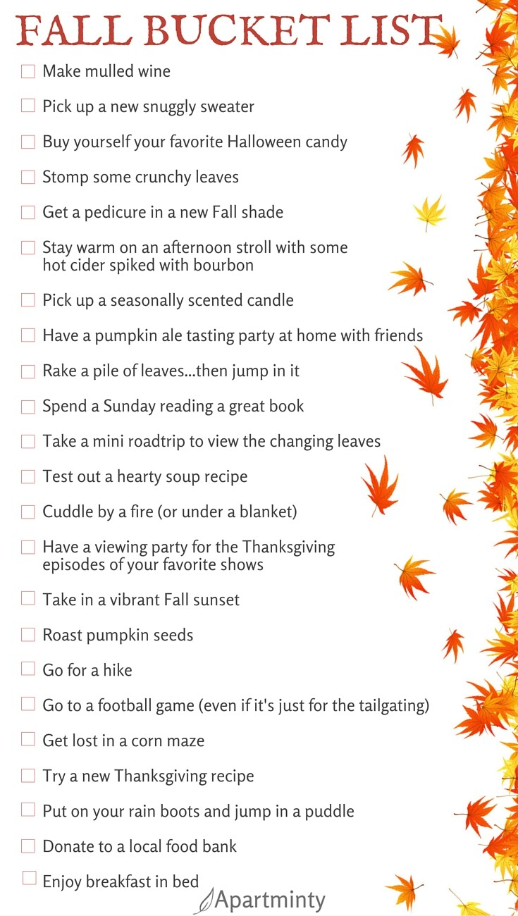 Apartminty Fall Bucket List | Great Fall Activities for Apartment Dwellers