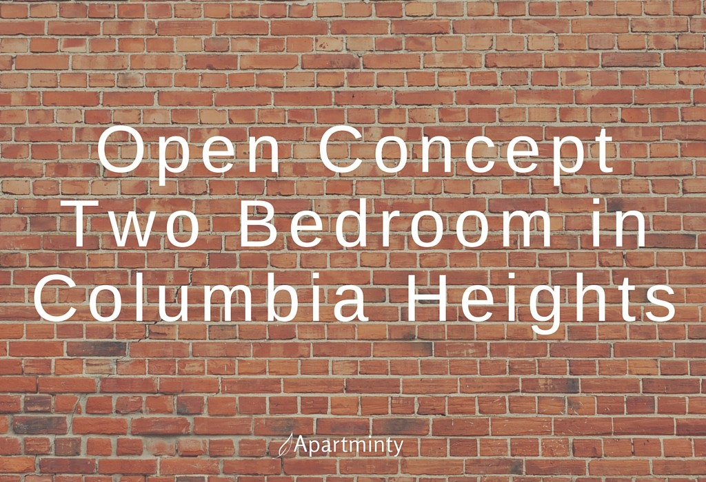 Open Concept Two Bedroom in Columbia Heights