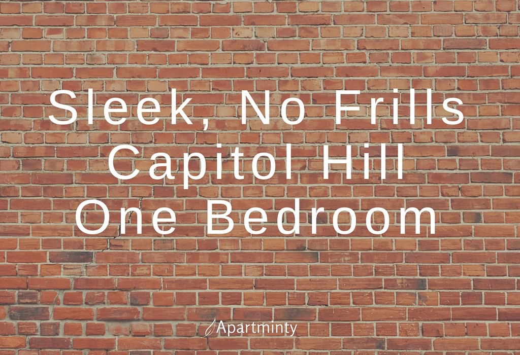 Sleek, No Frills Capitol Hill One Bedroom
