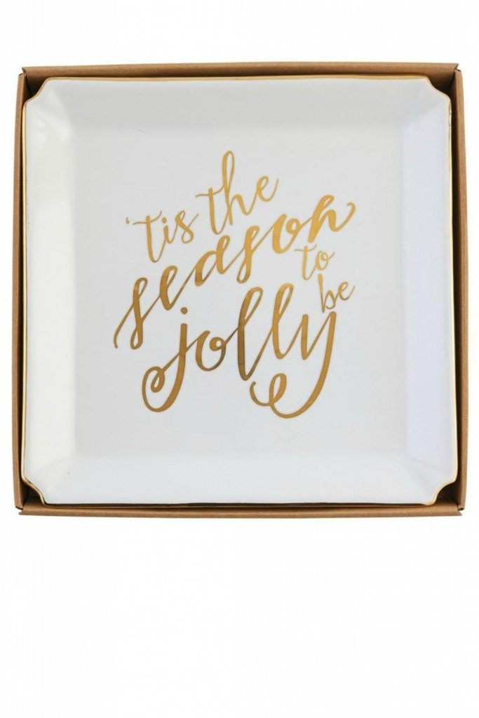 Apartminty Fresh Picks: Holiday Decor Ideas For Your Apartment | 'Tis the season Gold Holiday Platter