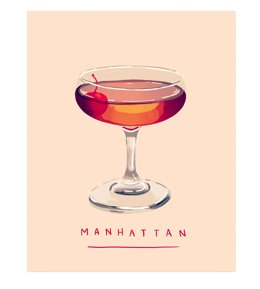 Holiday Gift Guide: Perfect Picks For The Happy Hour Enthusiast On Your List | Manhattan Cocktail Art Print