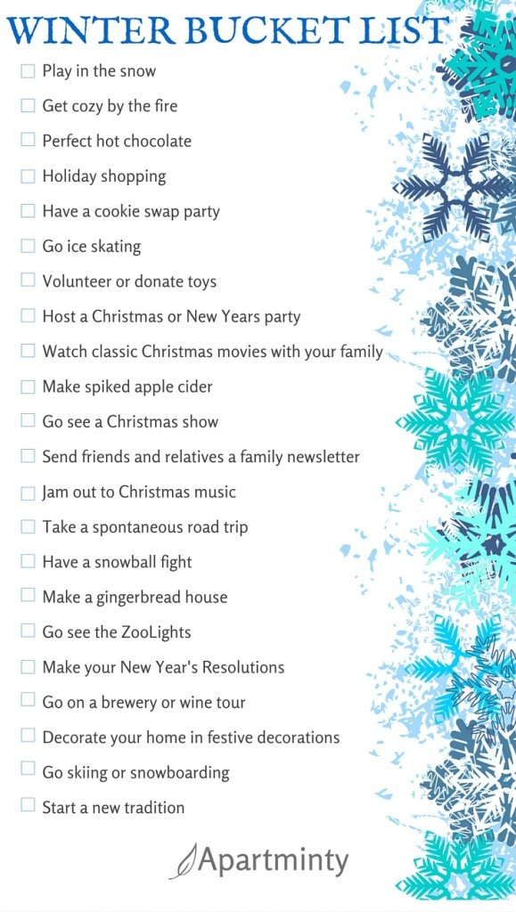 Renter Wonderland: Winter Bucket List