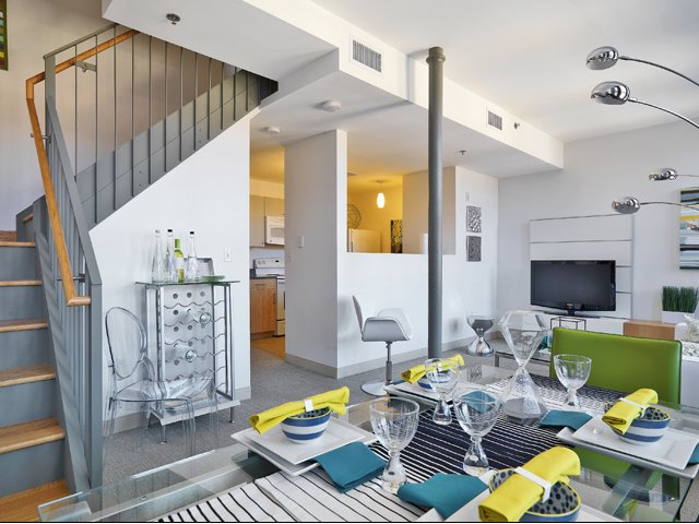 Watch Factory Lofts Apartments| Waltham Apartments | Living Room