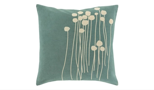 Apartment Accessories   Decorating Your Apartment   Surya Meadow Cotton Throw Pillow