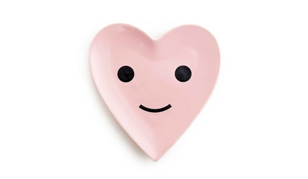 Valentine's Day Gifts | Apartminty Fresh Picks: Sweet Nothings | Happy Heart Porcelain Dish
