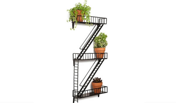 Small Space Storage Solutions For Your Apartment | Fire Escape Shelf