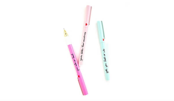Valentine's Day In Your Apartment | Apartminty Fresh Picks: Sweet Nothings | Sweet Talk Pen Set