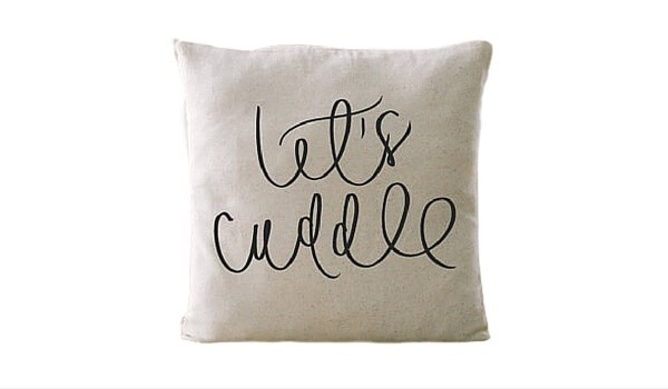 Valentine's Day Gifts | Apartminty Fresh Picks: Sweet Nothings | Let's Cuddle Pillow Cover