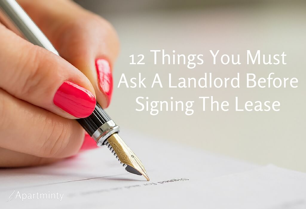 12 Questions You Must Ask A Landlord Before Signing The List | Apartment Hunting Questions
