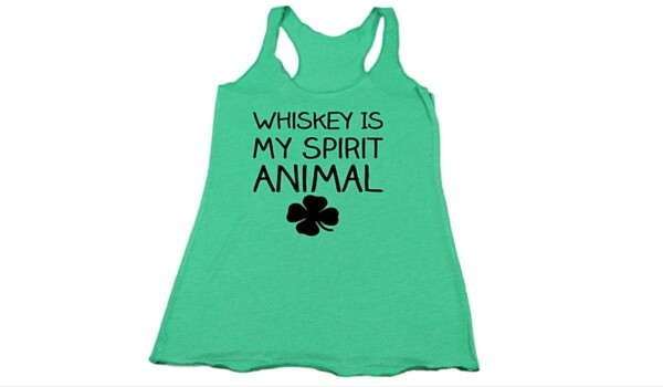 Apartminty Fresh Picks: Get Lucky | Best Buys For St. Patrick's Day | Whiskey Is My Spirit Animal Tank