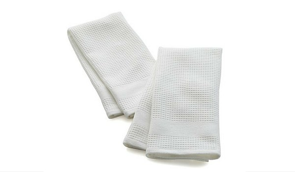 Waffle-Terry White Dish Towels | Apartminty Fresh Picks: Go Green For Spring Cleaning