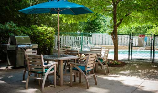 1443 Beacon Street Apartments | Pool and Sundeck | Move to Brookline