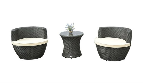 Apartminty Fresh Picks: Furnish Your Apartment Balcony For Summer | 3-Piece Stacking Rattan Chair Set