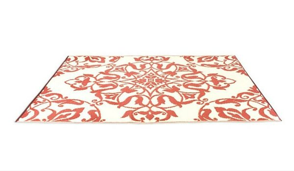 Apartminty Fresh Picks: Furnish Your Apartment Balcony For Summer | Red Patterned Outdoor Rug