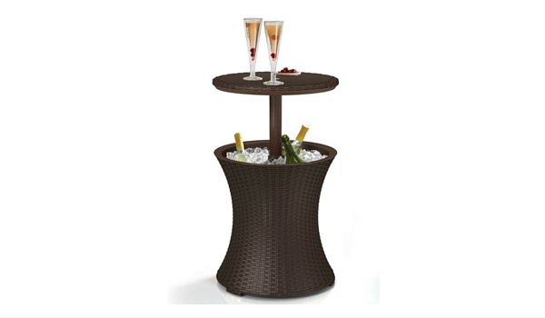 Apartminty Fresh Picks: Furnish Your Apartment Balcony For Summer | Rattan Patio Cooler Table