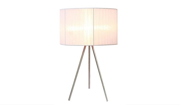 Apartminty Fresh Picks   Lamps For Your Apartment   Brushed Nickel Tripod Table Lamp
