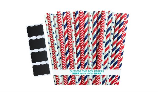Apartminty Fresh Picks: Fourth of July Accessories | Patriotic Paper Straws