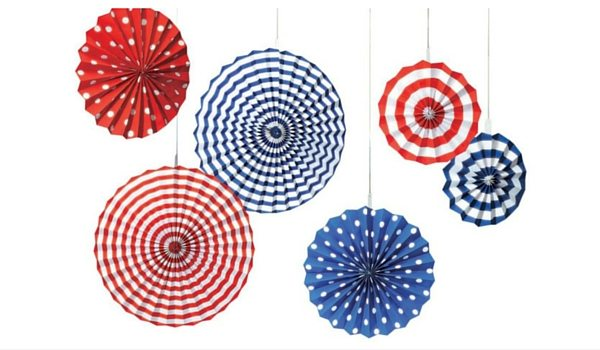 Apartminty Fresh Picks: Fourth of July Accessories | Stars and Stripes Decorative Hanging Fans