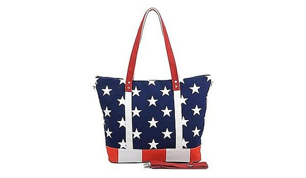 Apartminty Fresh Picks: Fourth of July Accessories | Stars & Stripes Canvas Tote Bag