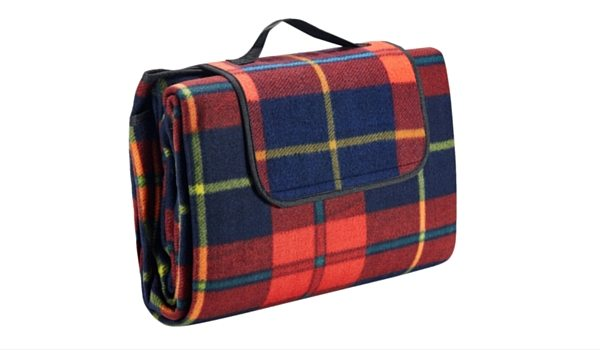 Apartminty Fresh Picks: Picnic Accessories | Portable Plaid Picnic Blanket With Waterproof Backing