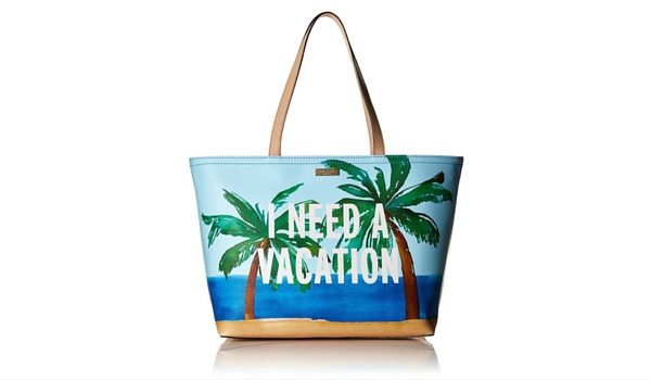 "Apartminty Fresh Picks: Pool Accessories | Kate Spade ""I Need A Vacation"" Tote"