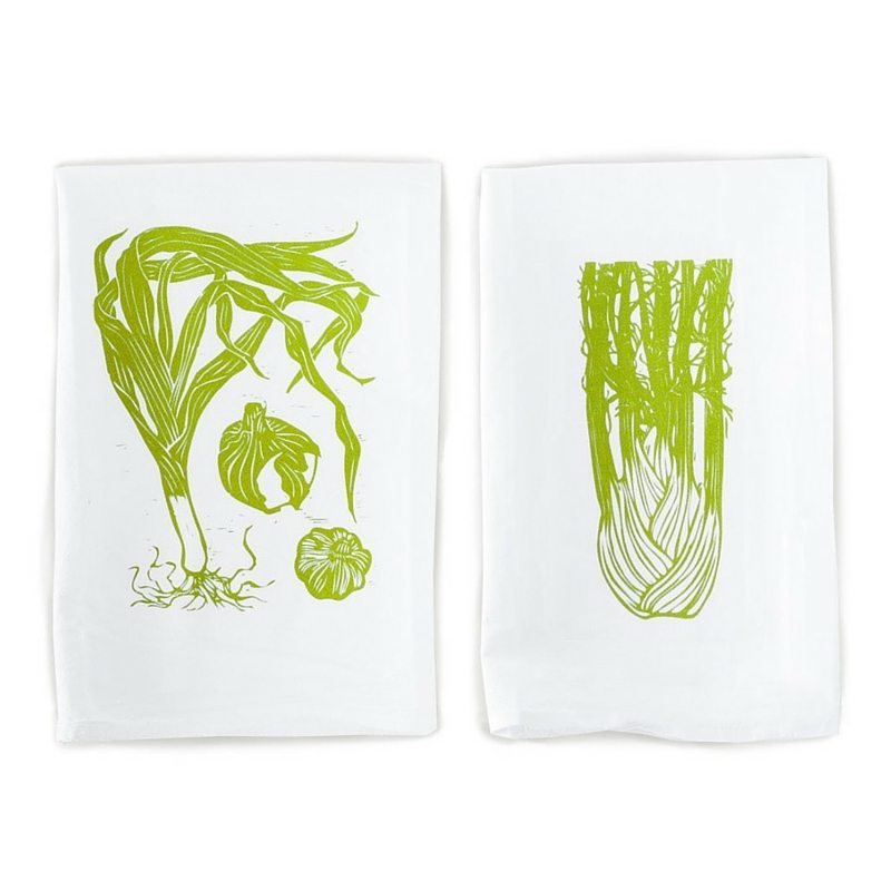 5 Things All Small Kitchens Need | Apartment Living | Leek & Fennel Screenprinted Kitchen Towels