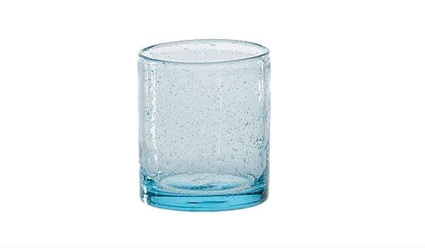 Apartminty Fresh Picks: Coastal Accessories For Your Apartment | Aqua Bubble Double Old Fashioned Glasses