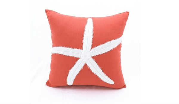 Apartminty Fresh Picks: Coastal Accessories For Your Apartment | Coral Starfish Pillow Cover