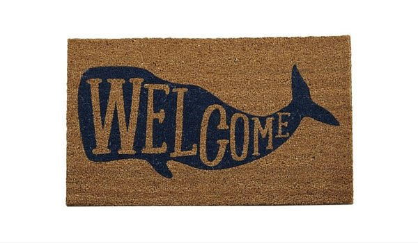 Apartminty Fresh Picks: Coastal Accessories For Your Apartment | Whale Welcome Mat