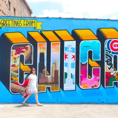 The Instagrammers Guide To Chicago, IL   Photo-Ops in Chicago   Greetings From Chicago Mural