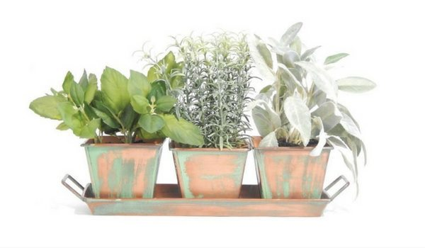 Apartminty Fresh Picks: Herb Garden Essentials For The Apartment Gardener | Copper Herb Garden Planter Kit
