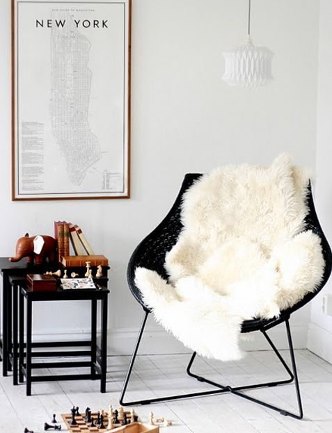 Fall Apartment Decor Trends | Warm & Fuzzy Faux Fur Accents